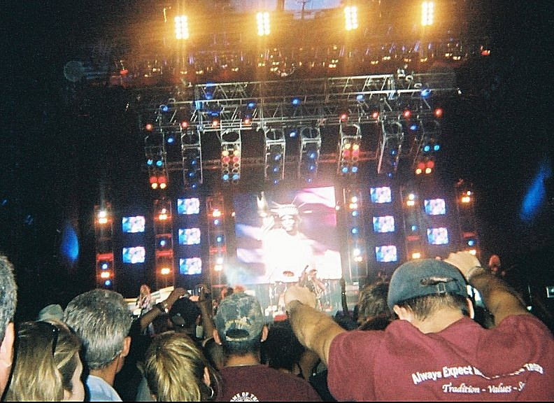Image of Lynyrd Skynyrd rocking out at the Big State Festival in College Station, Texas, October 13, 2007.
